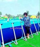Lilytoys! Het hete Zwembad van het Frame van het Metaal van het Park van het Water van de Zomer voor het Park van het Land