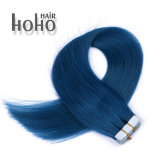 De naadloze Blauwe Zijdeachtige Rechte Band van 14 Duim in de Uitbreiding van het Menselijke Haar