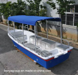 Bote patrulla de los fabricantes de los barcos del Panga del barco de pasajero de la fibra de vidrio de Liya Sw580b