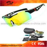 Uma equitação Shatterproof relativa à promoção por atacado do PC dos óculos de sol da bicicleta da lente UV400 da parte que conduz vidros de Sun
