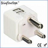 Südafrika Za Doppel-USB-Aufladeeinheit Wechselstrom-Adapter (XH-UC-022)