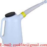 6 litres de distribution d'huile boîte/cruche de mesure en plastique avec le boyau flexible
