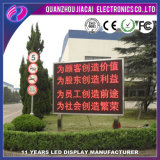 P10 Semi-Outdoor Display LED curvo de cor vermelha