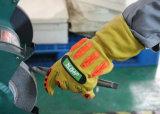 TPR Anti-Impact Abrasion-Resistant Peau de chèvre les gants de travail de sécurité mécanique