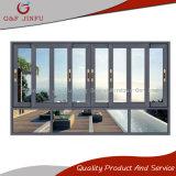 Precio competitivo de aluminio recubierto de potencia de las ventanas deslizantes horizontal