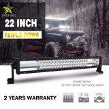 24 meses de garantía mayorista impermeable Super brillante 6500K 270W de 22 pulgadas de 3 filas de la barra de luz LED Jeep todoterreno