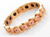 Здравоохранение Германия титановый магнитный браслет закрывается Gold Ruby on Rails пару излучения здоровья браслет цепь