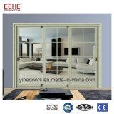 Portes d'entrée en aluminium en verre en gros de porte coulissante de la Chine