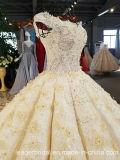 Новое без бретелек платье венчания Yao0062 поезда стреловидности Applique черноты империи