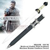 Gladius medieval com a espada romana 101cm HK819b/HK819r do gladiador de Maximus da bainha