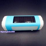 Jogador de música solar de Bluetooth da iluminação da lanterna elétrica do diodo emissor de luz com tocha Emergency