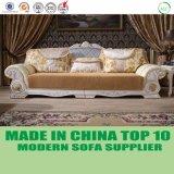 Französische barocke lederne Dubai-Aufenthaltsraum-Sofa-Luxuxmöbel