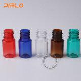[5مل] شفّافة محبوب زجاجة بلاستيكيّة صيدلانيّة إستعمال سائل وعاء صندوق كبس قطارة زجاجة