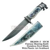 Нож 34cm выживания ножа ножей звероловства волка сь тактический