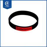 Kundenspezifisches Firmenzeichen-Förderung-Geschenk-justierbarer SilikonWristband, Armband