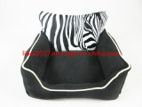 Soem neues spätestes schwarzes weißes kundenspezifisches S M L Haustier-Bett-Kissen-Welpe füllt Hundesofa auf