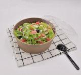 Saladier de papier remplaçable biodégradable d'emballage de catégorie comestible de cuvette imperméable à l'eau de papier
