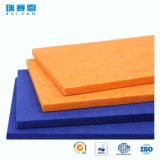 écrans antibruits de fibre de polyester d'épaisseur de 13mm, panneau ignifuge pour le mur et plafonds