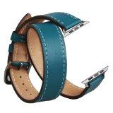 De dubbele Riem van de Armband van de Band van het Horloge van het Leer van de Reis Echte voor het Horloge van de Appel