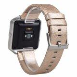 Reloj Pulsera de cuero auténtico de la banda de sustitución de la correa para Fitbit Blaze Reloj inteligente
