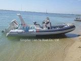 motori esterni del peschereccio della vetroresina di 6.2m della barca gonfiabile rigida della nervatura