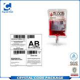 Großhandelssuperqualitätskundenspezifischer Blut-Beutel-Aufkleber-Kennsatz