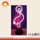 Lampe au néon personnalisée par cadeau chaud de signe populaire de flamant de Noël de vente
