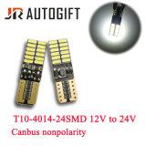 Canbus nenhuns bulbos do diodo emissor de luz da luz do afastamento do erro W5w 12-24V auto