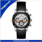Horloge van het Silicone van het Horloge van drie Ogen het Automatische