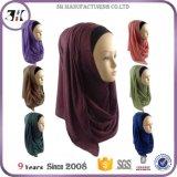 Viscosa istante Hijab dello scialle del grande di formato cotone elastico all'ingrosso di colore solido