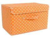 Caixa de armazenamento Foldable dobrável barata da tela do poliéster com tampa