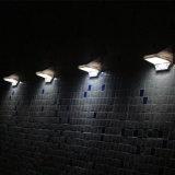 Super brillante LED el ahorro de energía solar del sensor de movimiento de la luz de pared