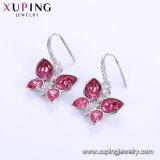 Xuping bañado en platino de la moda al por mayor de los cristales de Swarovski Moda Señoras Hoop Earrings