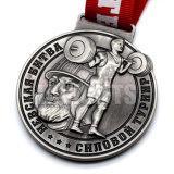 Médaille faite sur commande en métal de la récompense 3D de levage de poids