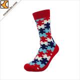 Katoenen van de Nieuwigheid van mensen Korte Duidelijke Sokken met Patroon (165023SK)