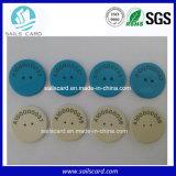 L'IDENTIFICATION RF d'étiquette de blanchisserie vêtx l'étiquette de blanchisserie de l'étiquette 125kHz/13.56MHz