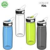 Новая конструкция небьющийся прозрачный пластиковый спорта бутылка воды