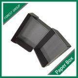 Cor preta caixa de papel ondulada impressa na venda