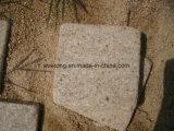Pietra per lastricati del granito di colore giallo di tramonto G682 del ciottolo arrugginito del cubo