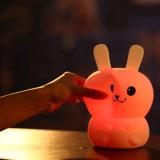 신제품 사랑스러운 토끼 곰 실리콘 박수 압력 기복 램프