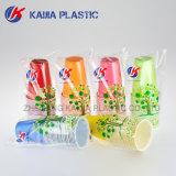 300ml 녹색 백색 두 배 색깔 플라스틱 컵