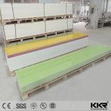 Strati di superficie solidi di pietra di marmo artificiali di colore verde