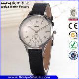 Orologio della donna del quarzo della cinghia di cuoio di moda (Wy-096E)