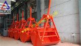 Самосхваты Clamshell одиночного касания веревочки открытые для грейферного ковша палубного судового крана механически