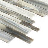 Плитка мозаики синего стекла искусствоа строительного материала линейная для домашнего украшения