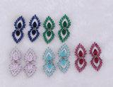 도매 브라질 다채로운 수정같은 장식 못 귀걸이는 주문 설계한다