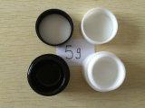 O creme transparente plástico Packaign cosmético 5g do olho cancela o frasco para o prego do gel
