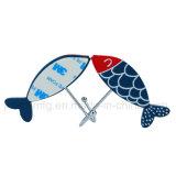 De op zwaar werk berekende 3m Zelfklevende Haken van de Muur met de Blauwe Decoratie van Vissen