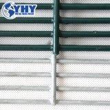 Le fil soudé noir de calibre 10 panneau à mailles de clôture
