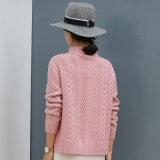 Il cachemire di seta di alta qualità ha lavorato a maglia il disegno del maglione di sensibilità della mano molle del maglione
